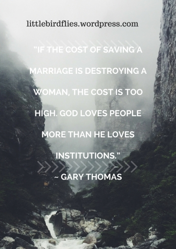 """""""If the cost of saving a marriage is destroying a woman, the cost is too high. God loves people mor (1)"""