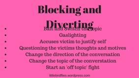 Blocking and Diverting