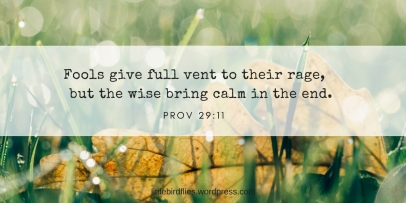 Fools give full vent to their rage, but the wise bring calm in the end.
