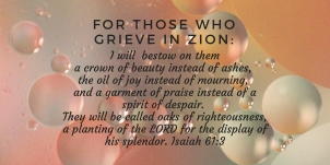 provide for those who grieve in Zion-- to bestow on them a crown of beauty instead of ashes, the oi